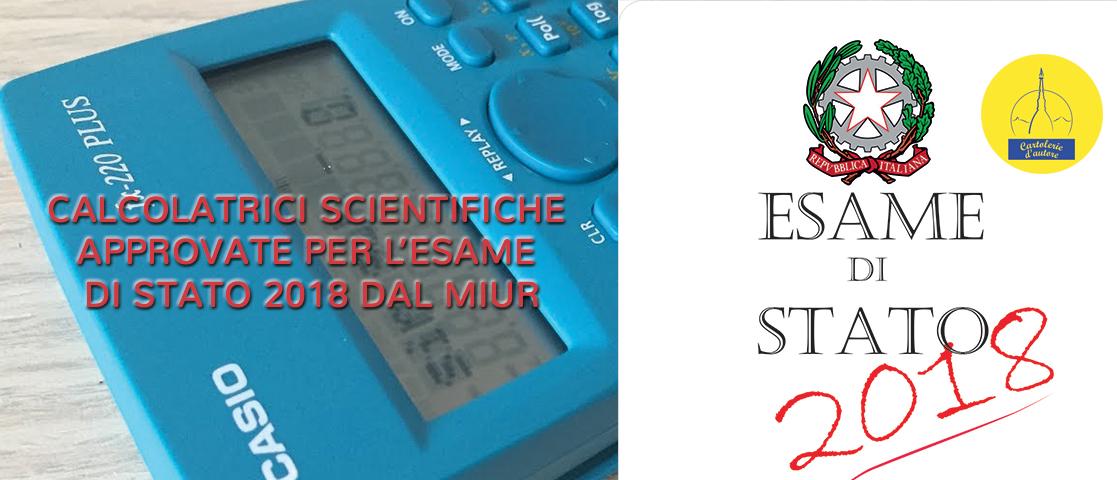 Utilizzo delle calcolatrici elettroniche nelle prove scritte dell'esame di Stato