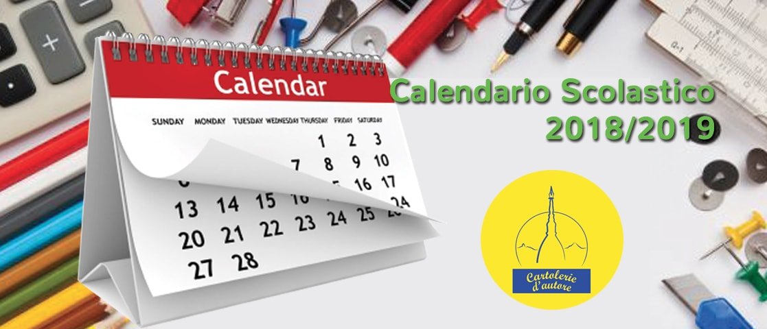 Calendario Scolastico 2018/2019 cartolerie d'autore